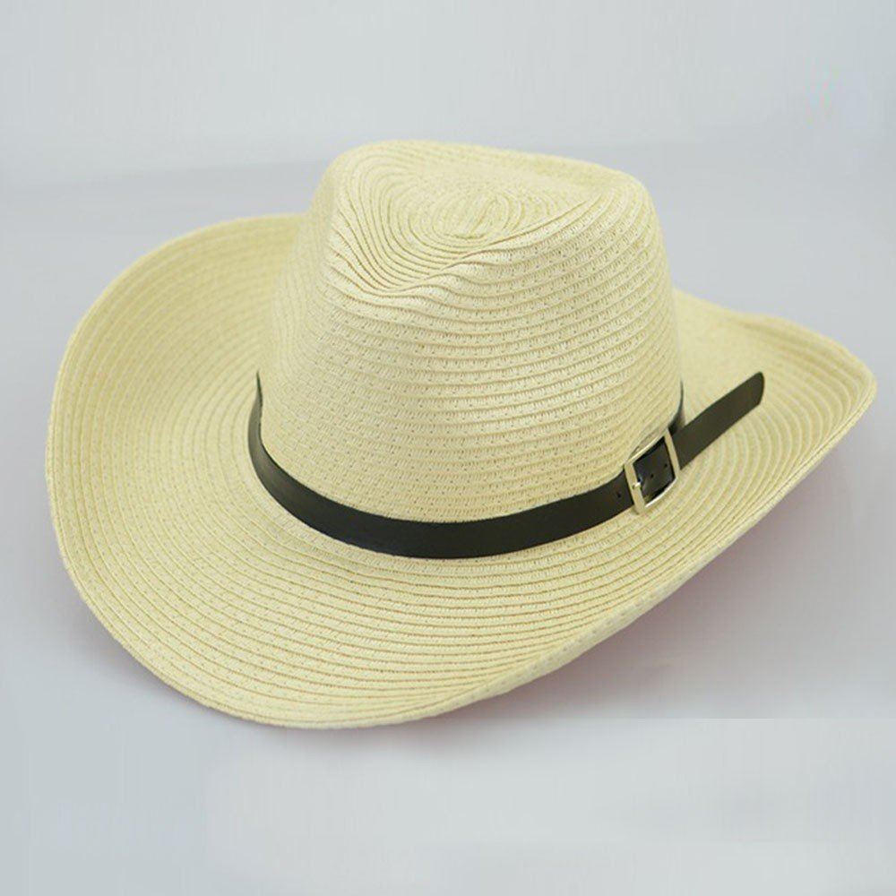 858196331b7 Amazon.com  Clearance Sale! Teresamoon Floppy Foldable Man Unisex Belt Straw  Beach Sun Summer Hat Wide Brim  Home   Kitchen