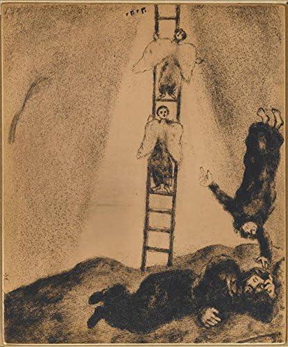 Jacob Sees en un sueño un escalera tocar el cielo en que los ángeles de Dios ascendente y por Marc Chagall 28