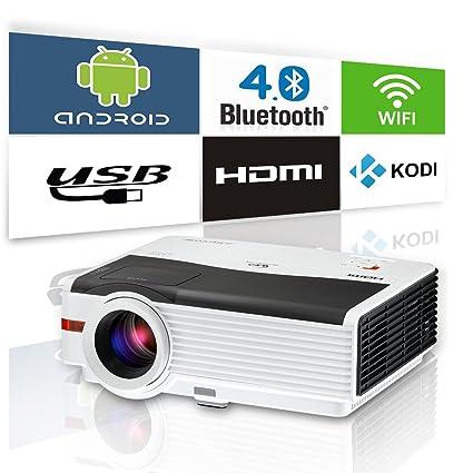 """75c0a6f1b3dbfd Video Projector Wifi Bluetooth 4200 Lumen LED LCD Display Max 200"""",  Support Full Hd"""