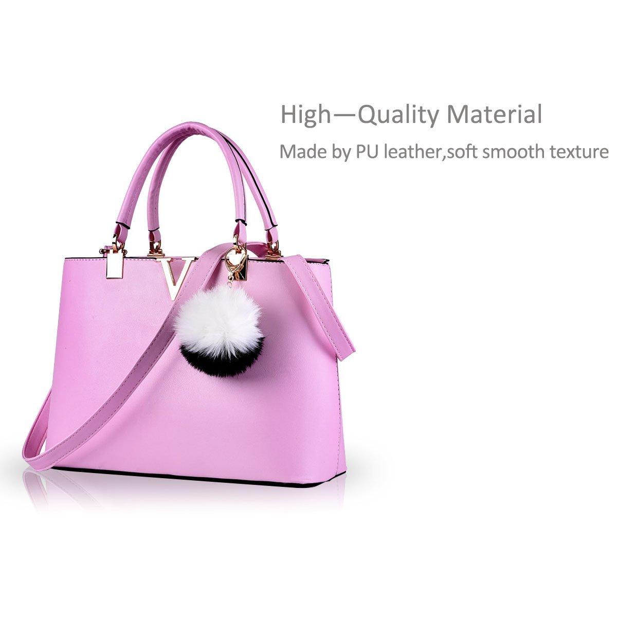 NICOLE & DORIS For Women's Casual Shoulder Cross Body Bags Spring 2017 Spring New Trends Minimal Fashion Handbags (Purple) by NICOLE & DORIS (Image #4)