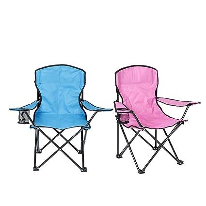 Juego de dos sillas de camping plegables para niños, color ...