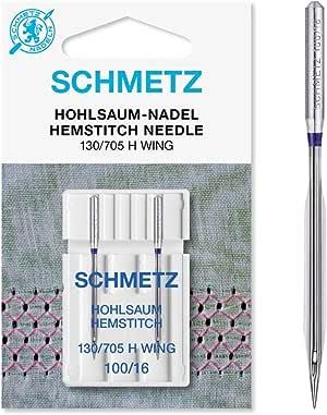 Schmetz con vainica/ala Agujas para máquina de coser, pack de dos, tamaño 100/16 – comprar 2, Get 3rd paquete libre., 1 Single Packet of Two: Amazon.es: Hogar
