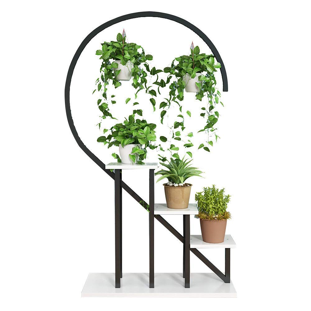 chishizhenxiang Plant Flower Stand Floor Semicircle Rectangular ...