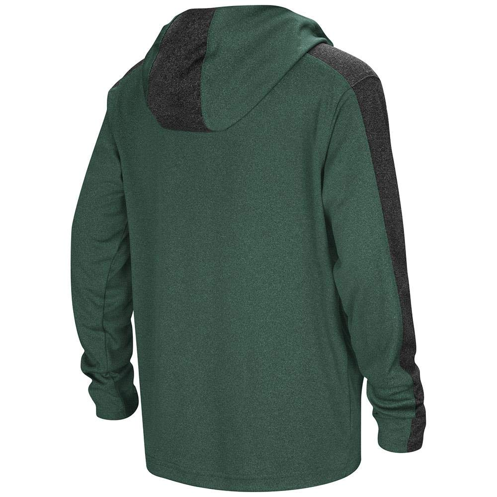 Colosseum Youth Dartmouth Big Green Quarter Zip Hooded Windshirt