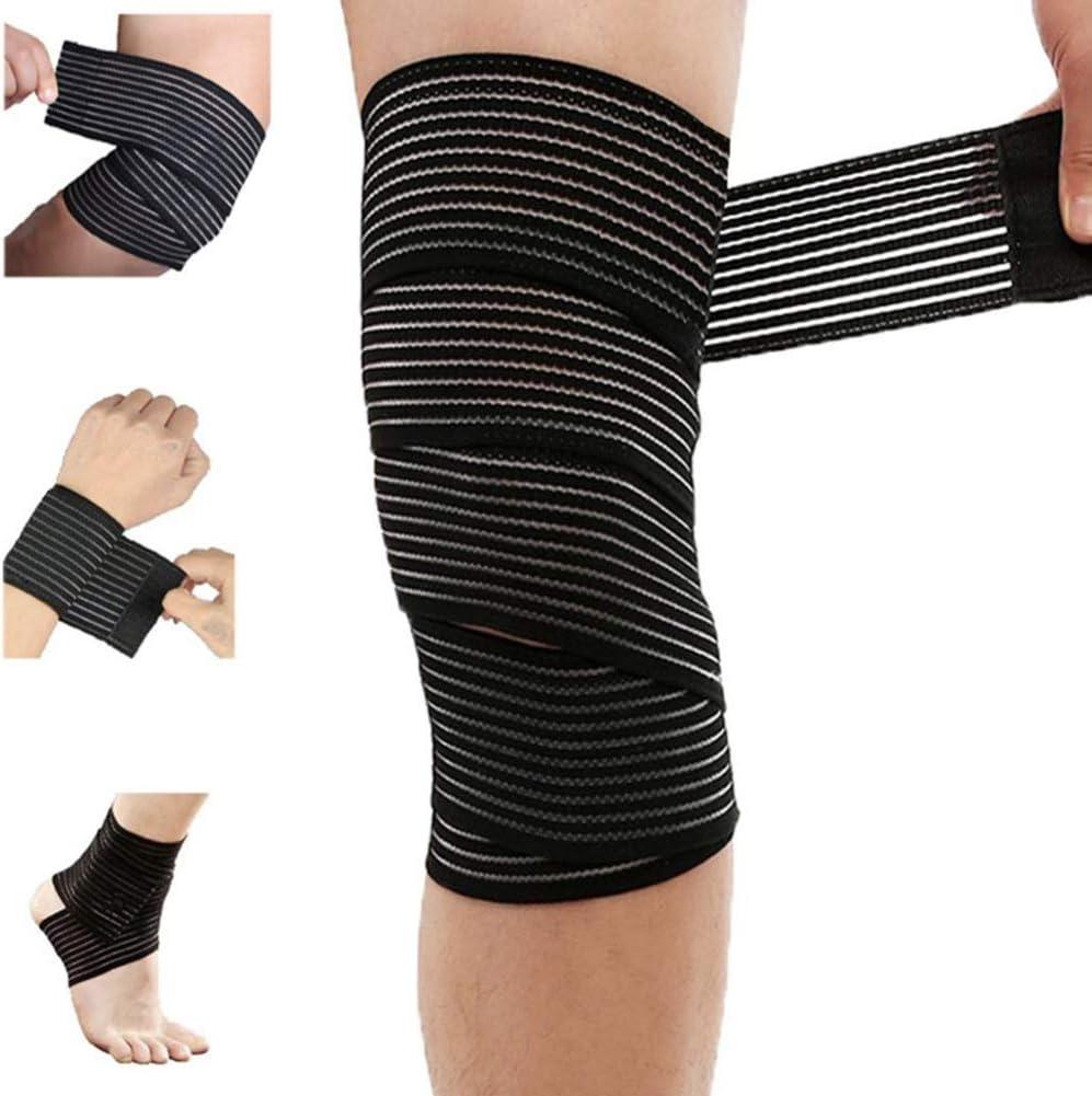 Amazon Com Extra Long Elastic Knee Wrap Compression Bandage Brace