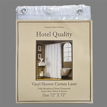 Amazon.com: Super Clear Hotel Quality 8-gauge Anti Mildew Shower ...