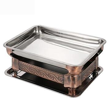 DCY Engrosamiento de Acero Inoxidable portátil Estufa de Alcohol a la brasa Cocina de Pescado: Amazon.es: Hogar