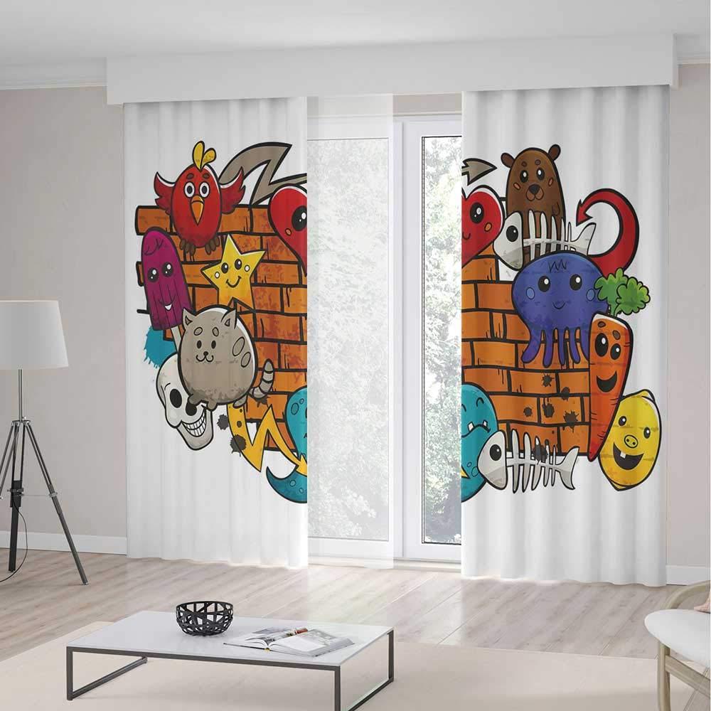 amazon com yoliyana blackout bedroom curtains graffiti decor for rh amazon com