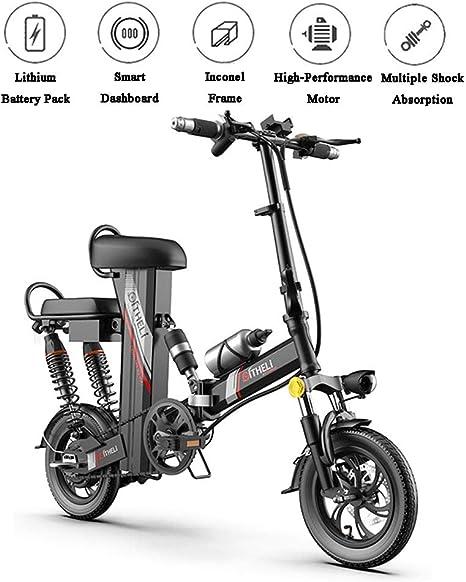 SFXYJ Bicicleta Eléctrica Plegable con Batería Extraíble Y Asiento ...