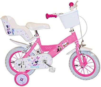 Bicicleta de niña,12 pulgadas, Minnie, licencia oficial de Disney ...