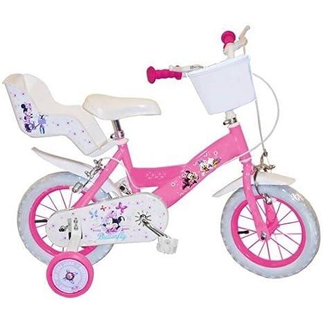 Guizmax Bicicletta Bambino 12 Pollici Minnie Licenza Ufficiale Disney