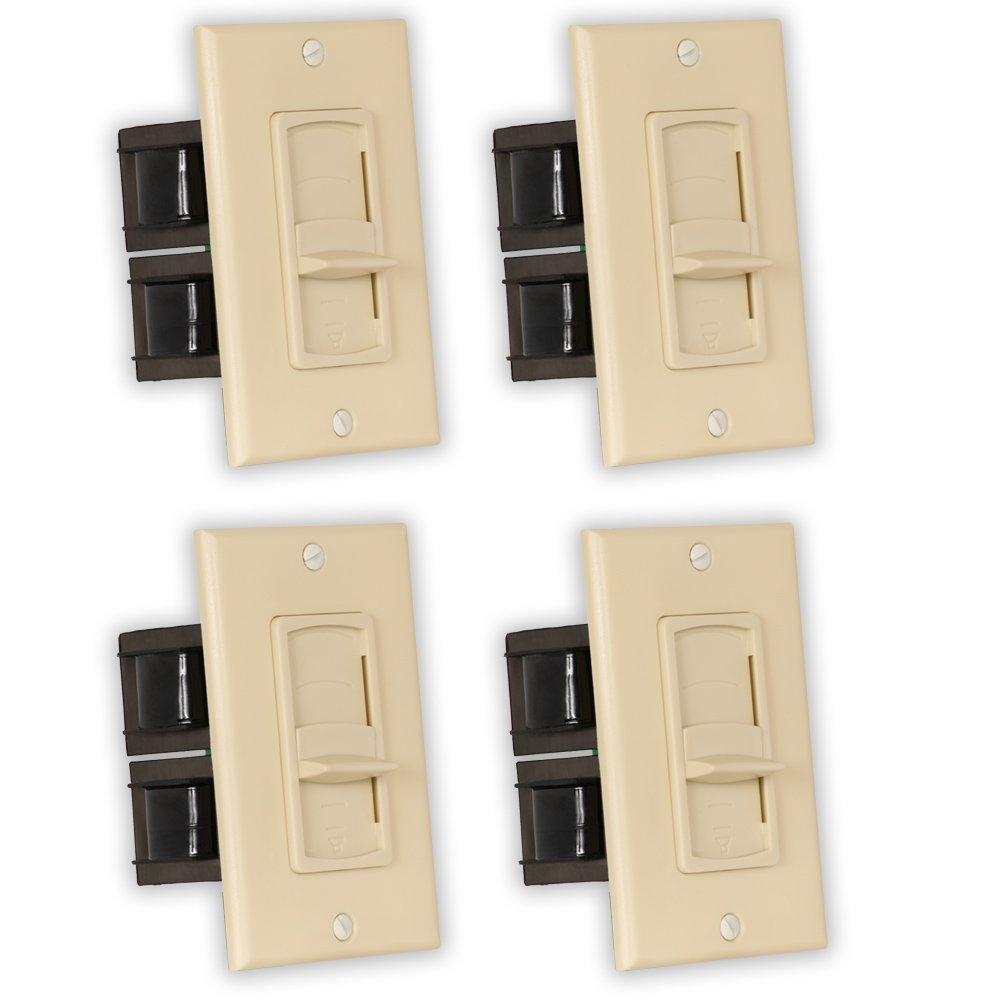 Theater Solutions TSVCS-I Indoor Speaker Volume Controls Ivory Slide Audio Switches 4 Piece Pack