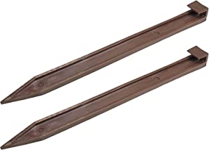 One Stop Outdoor (25 Pack) Brown Nylon Landscape Edging Anchoring Plastic Ground Stakes, 10-Inch Length Brown Garden Edging Spikes, USA Made - (Fits Most Brands EasyFlex Dimex Proflex) (25)