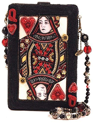 - Mary Frances Lucky Lady Las Vegas Queen of Hearts Card Beaded Jeweled Handbag Shoulder Bag