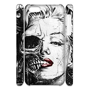 Personalized New Print Case for iPhone 5 5s 3D, Zombie Marilyn Monroe Phone Case - HL-550732