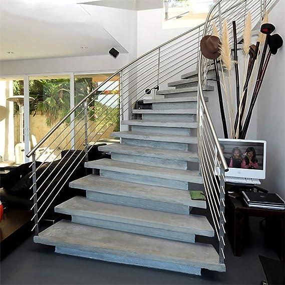 JHXLJ Barandilla de la Escalera/con 6 rieles/Acero Inoxidable/Escalera barandilla/for escaleras, barandas, Balcones (Adaptable) (Size : 105cm): Amazon.es: Hogar