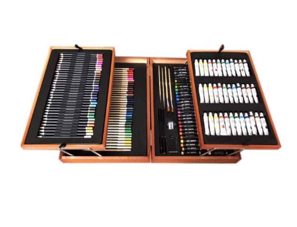 HQYDBB Kids Art Set, 168 Set da Dipinto per Bambini, Pennello Lavabile Non pigmentato a pigmenti, Matita Coloreata, Graffiti, Attrezzi per la Scuola primaria