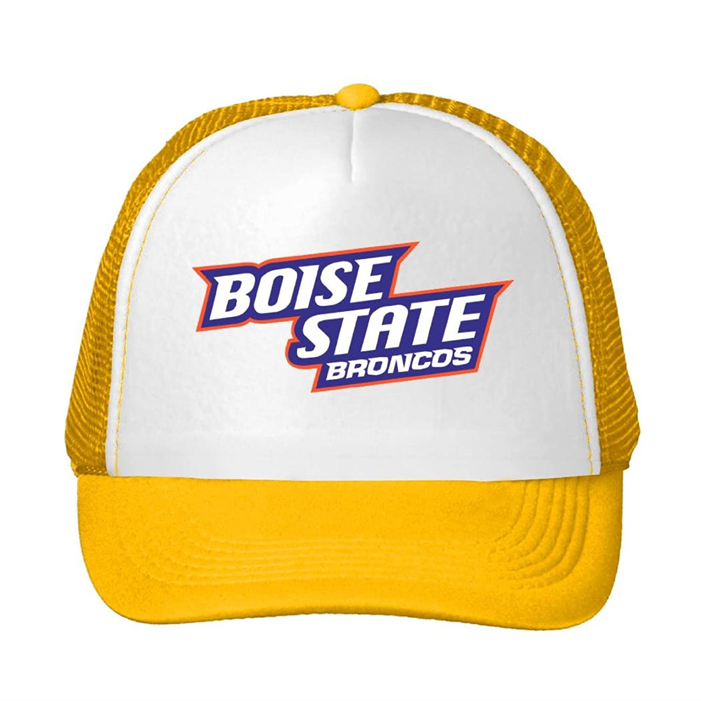 Nice Cotton Men Women Trucker Hat Boise State Broncos Logo 2016 Adjustable Cute Sun Cap