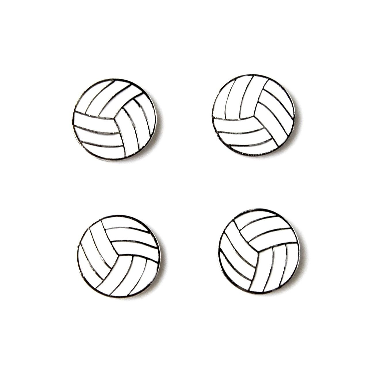 Quality Handcrafts Guaranteed Volleyball Tuxedo Studs