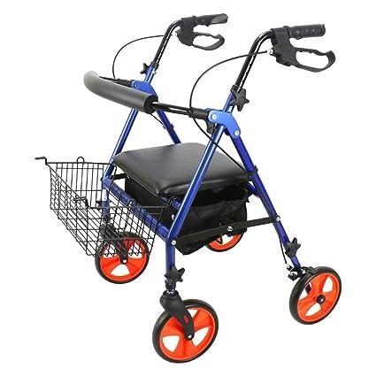 Andador de aluminio ligero, andador con ruedas ajustable ...