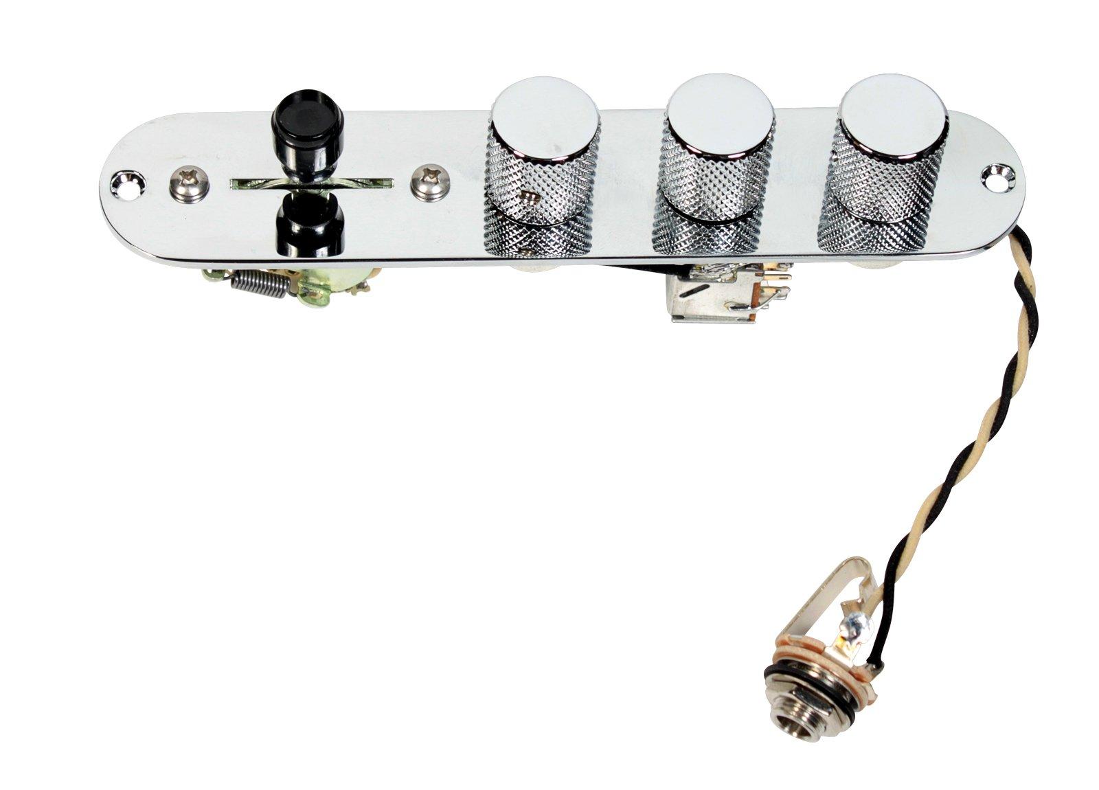Fender Telecaster Brent Mason Style 3-Way Control Plate - Mini Pots - CRL Switch