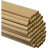 """Wooden Dowel Rods – 5/8"""" x 36"""" Unfinished Hardwood Sticks – For Crafts and DIY'ers – 5 Pieces – Woodpecker Crafts"""
