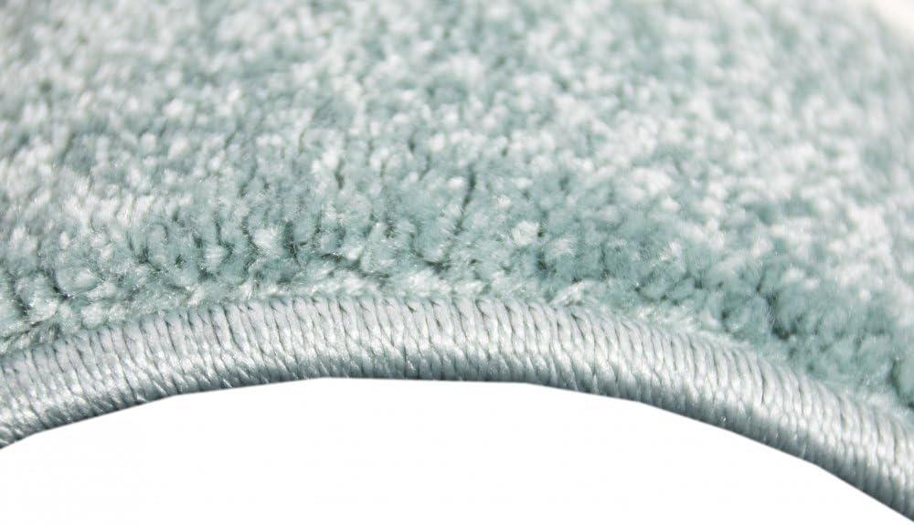 Children carpet Baby rug Baby carpet round with Star in Turquoise White Gray size 80 cm Rund