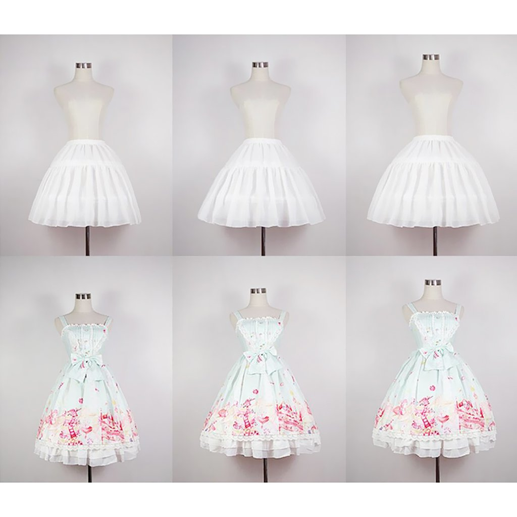 B Blesiya Vintage Crinoline Dress Pannier Lolita Style Velo Da Sposa Slip Crinolette