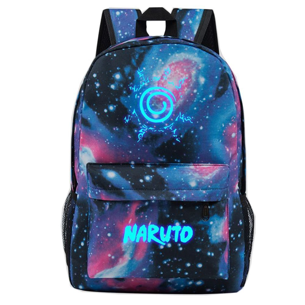 Style-7 E.a@Market Students Anime  Naruto  Syaringan Canvas Backpack Starry Sky Style (Style-2)