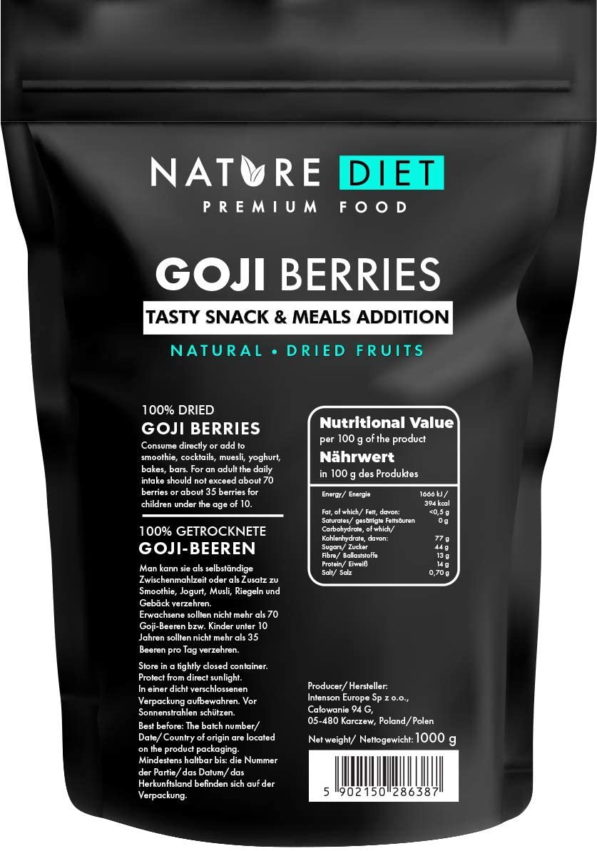 Nature Diet - Bayas de goji, 1000 g