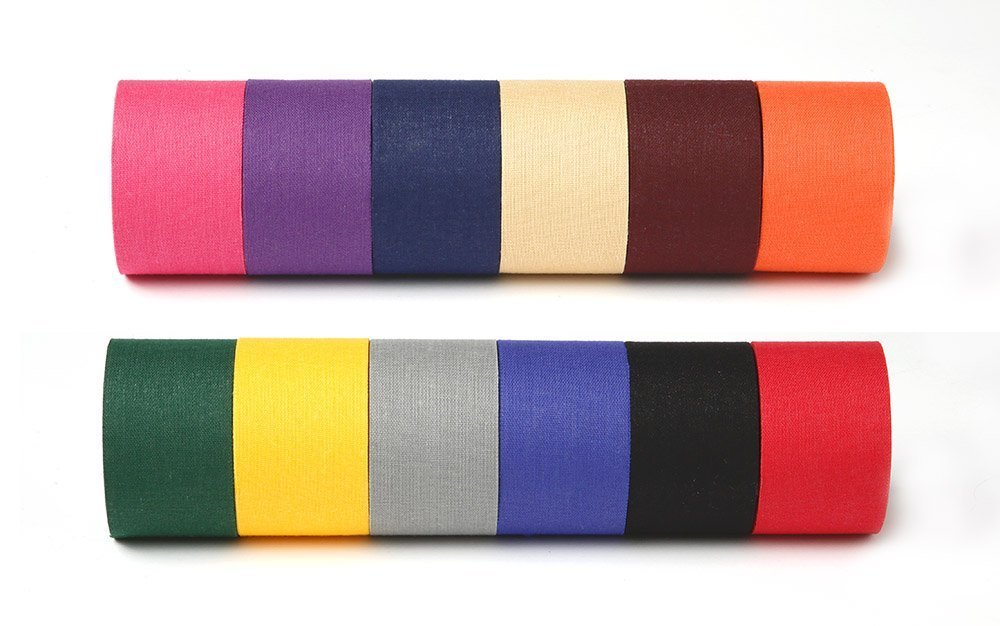 Athletic Tape - 12 Colors - Black, Beige, Blue, Red, Navy, Orange, Purple, Pink, Gray, Gold, Green, Maroon M-tape