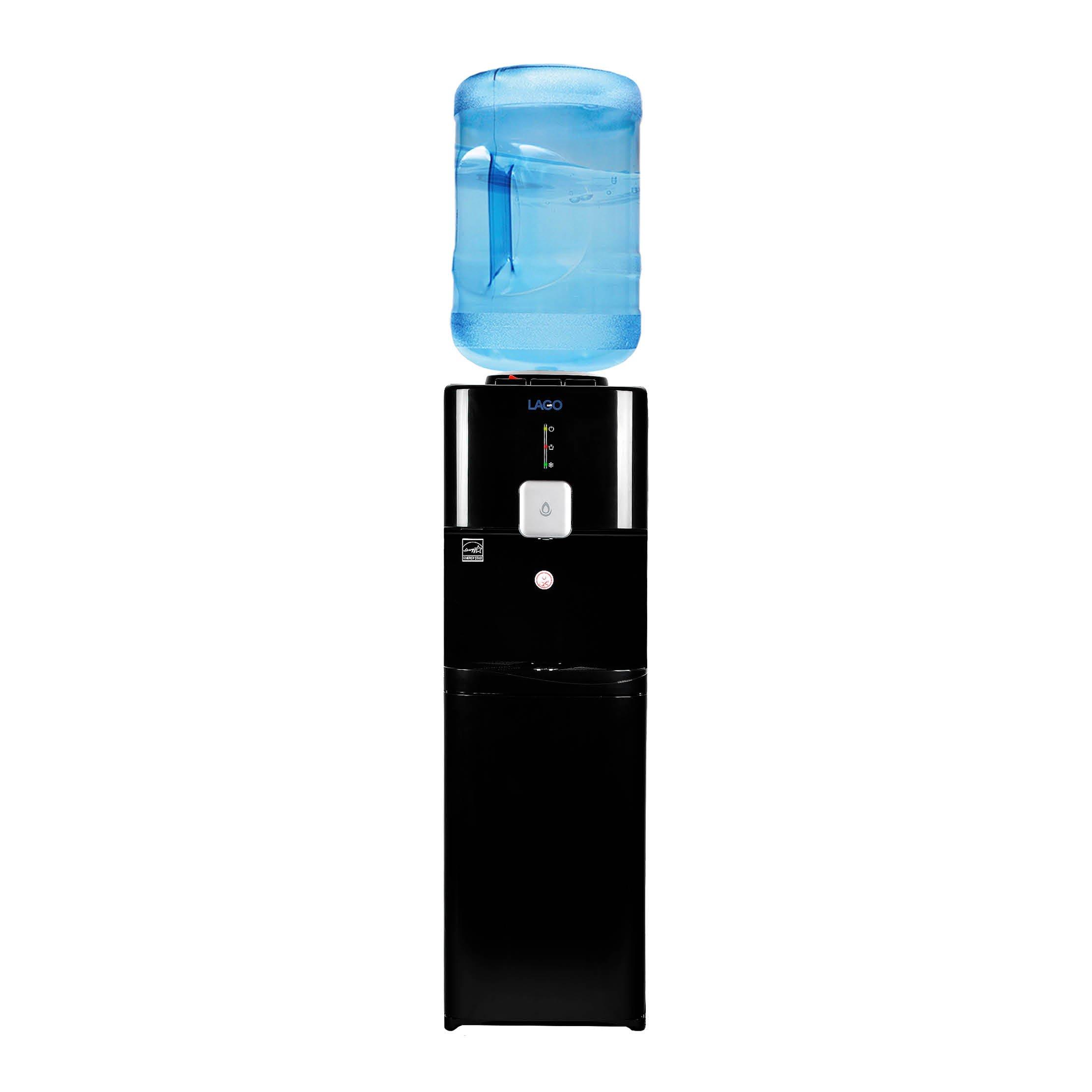 Lago Top Load Hot, Cold & Room Black Water Cooler Dispenser