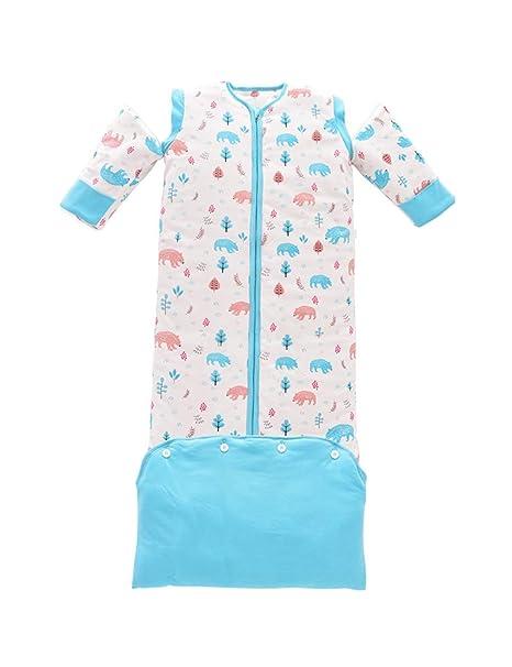 TAAMBAB Bebé Dormir Vestido Oso Impresión Saco Algodón Recién Nacido ...