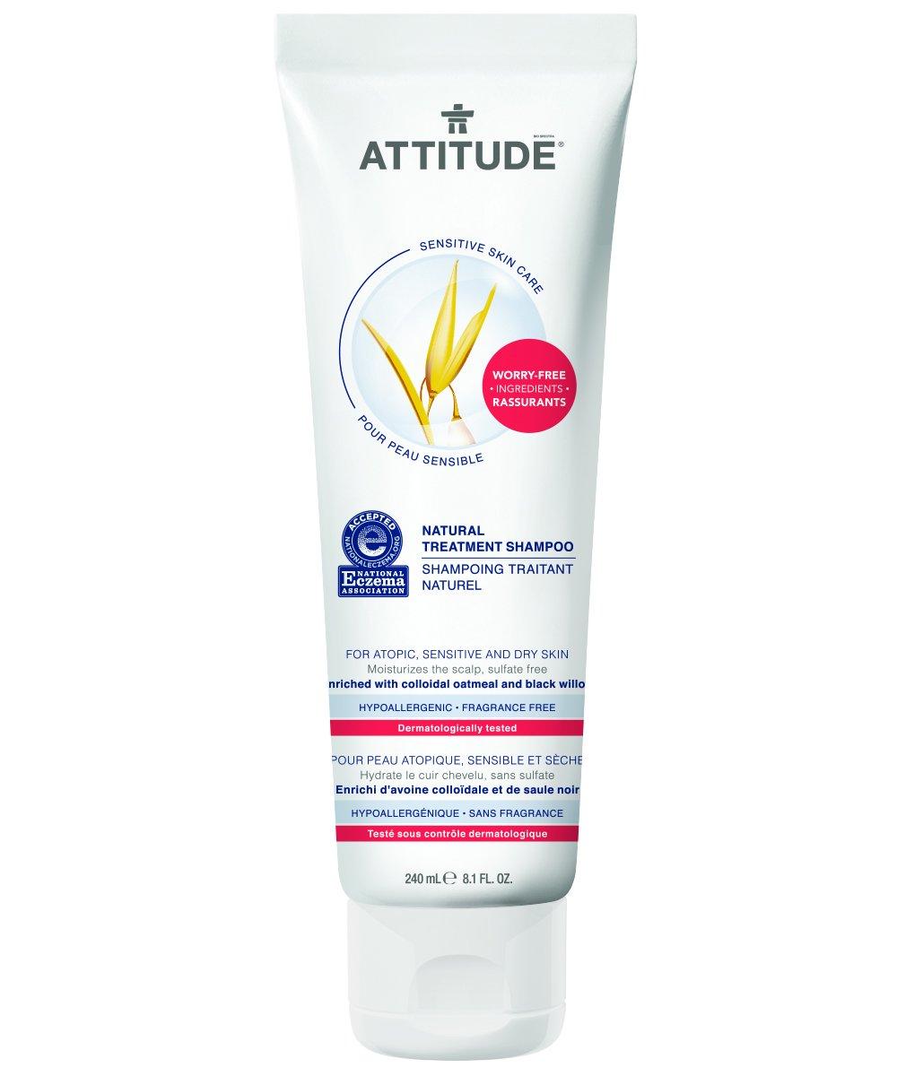 Attitude Natural Treatment Shampoo, Fragrance Free, 8.1 Fluid Ounce