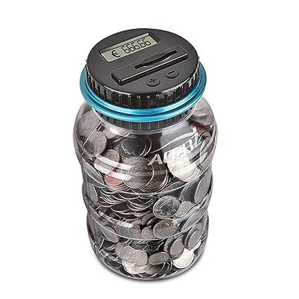 82fca56161 AOZBZ Digitale Salvadanaio Euro Counter, Automatico Coin Counting Soldi  Scatola per i Bambini e Adulti