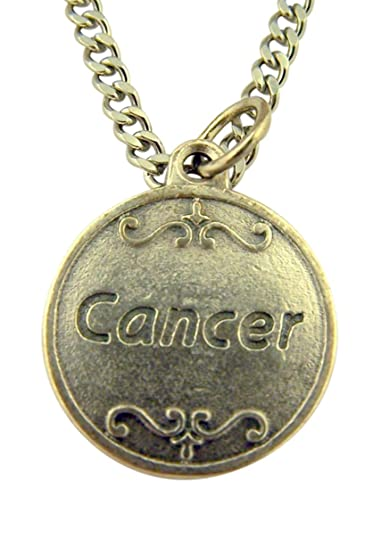 e642233f084 Catholic Saint Charms Silver Tone Cancer Can Be Overcome Medal on Chain, 3/4