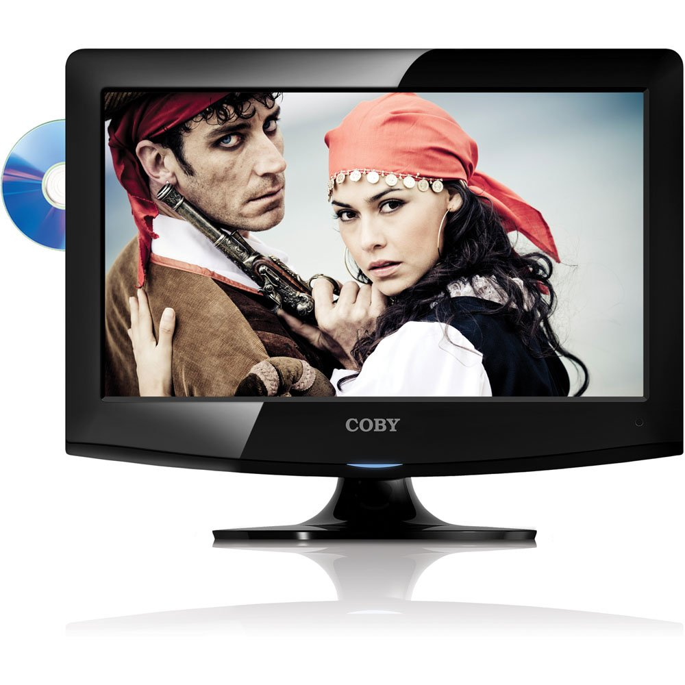Amazon.com: Coby 15-Inch 720p 60Hz LED TV with DVD Player LEDVD1596, Black:  Electronics