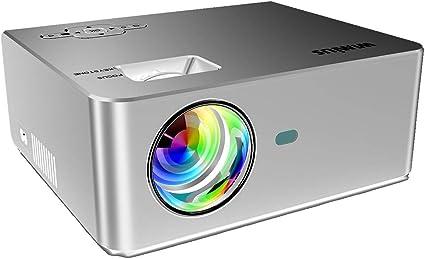 WiMiUS T4 - Proyector de vídeo Compatible con 1080P con HDMI, USB ...