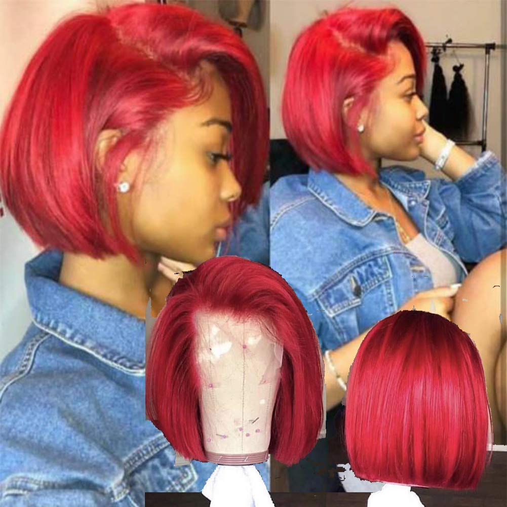 Awe Inspiring Burgundy Ombre Lace Front Blunt Cut Bob Hair Jewelry Body Jewelry Schematic Wiring Diagrams Amerangerunnerswayorg