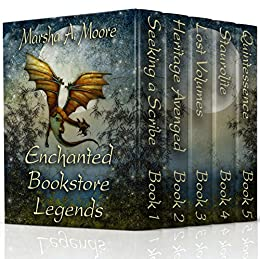 Enchanted Bookstore Legends (5-book complete epic fantasy romance box set) by [Moore, Marsha A.]