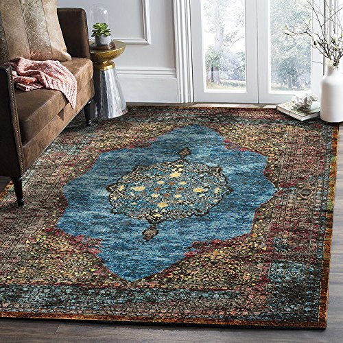 LR Home GALAC81272TUM4060 Gala Collection Area Rug, 4' x 6', Turquoise Multi ()