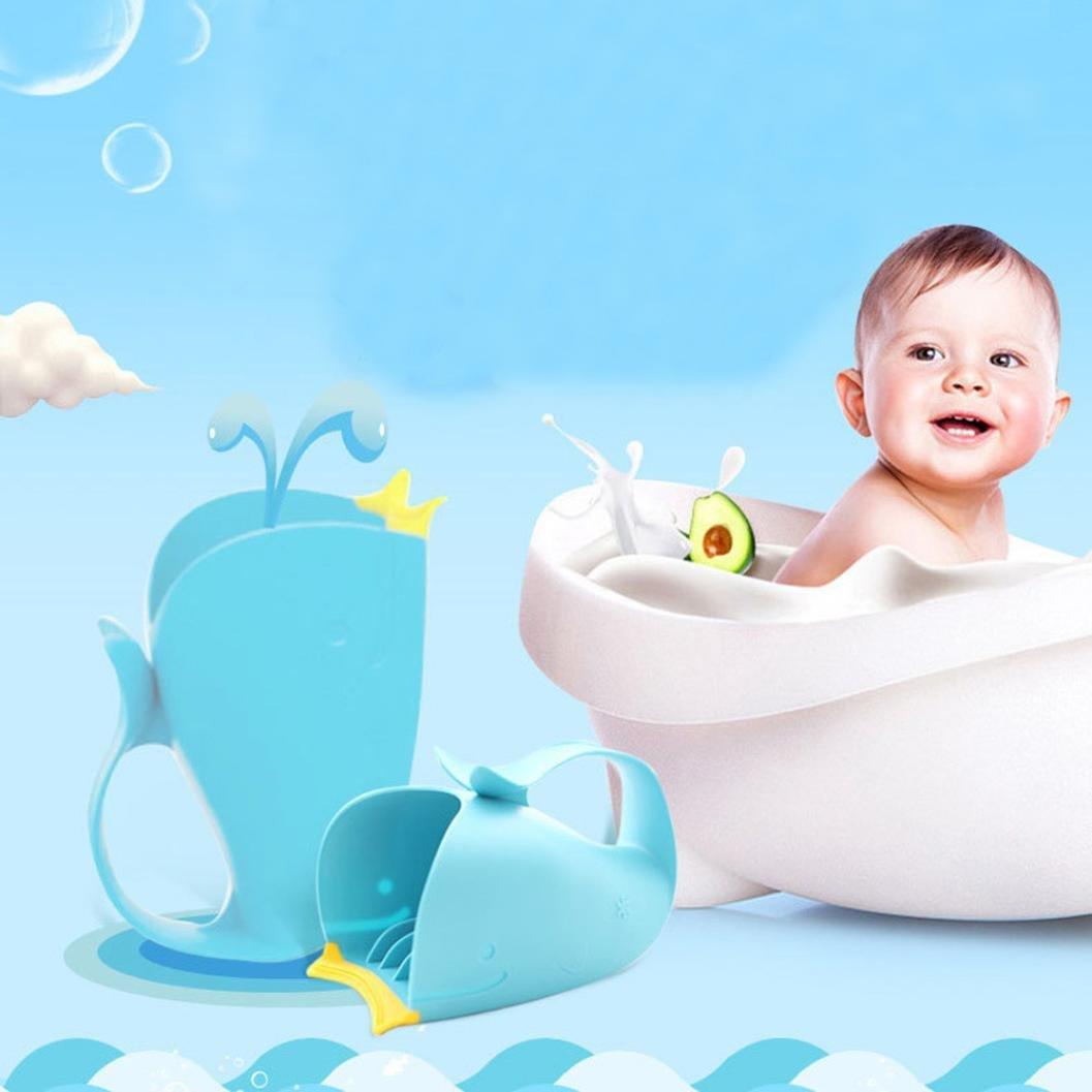 Amazon.com: Baby Shower Spoons Vibola Cartoon Whale Baby Bath Caps ...