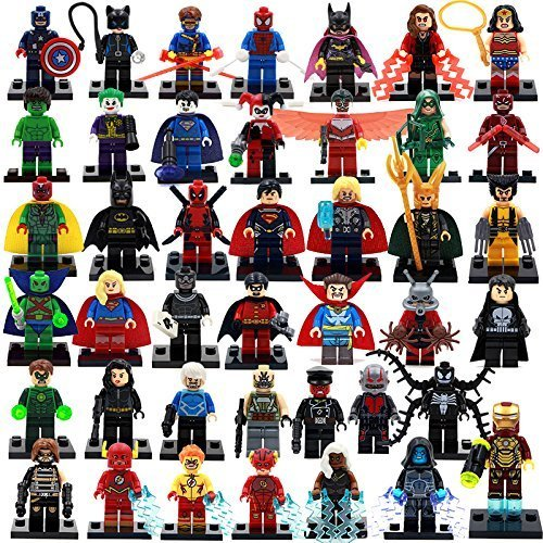 39 Piece Marvel Super Heroes Hulk Flash Deadpool Loki Toys Building Blocks Sets Minifigures Classic Toys Without Original Boxes (Lego Avengers Hulk)