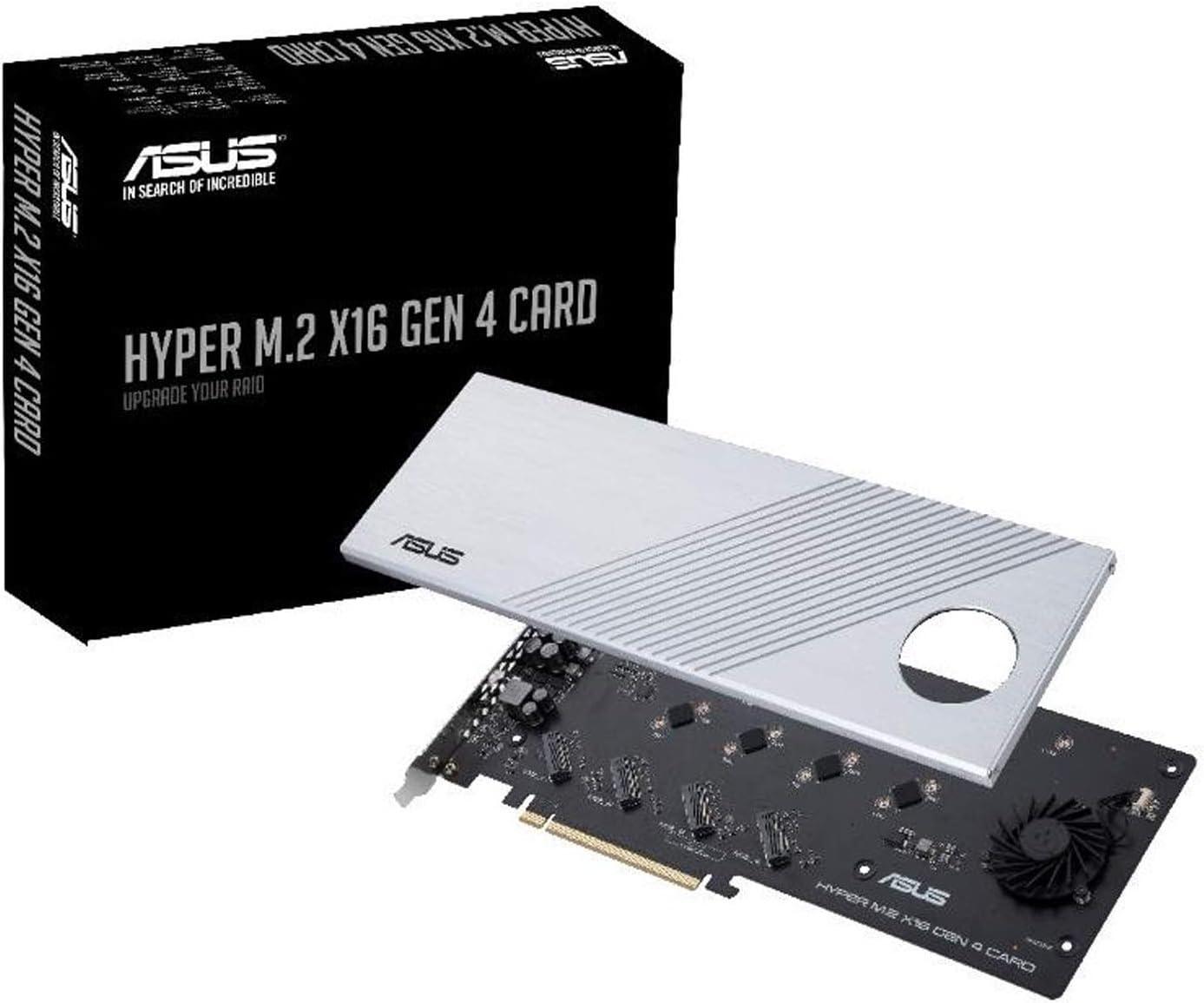 ASUS Hyper X16 PCIe 4.0 X4 4 NVMe M.2 RAID INTEL VROC AMD