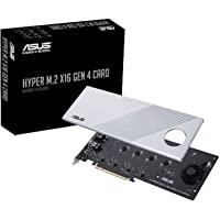 ASUS Hyper M.2 X16 PCIe 4.0 X4 Expansion Card Supports 4 NVMe M.2 (2242/2260/2280/22110) up to 256Gbps for AMD 3rd Ryzen…