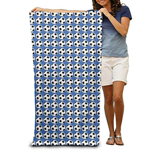 Home&apron Soccer Prints Adults Cotton Beach Towel 31 X 51-Inch by Home&apron