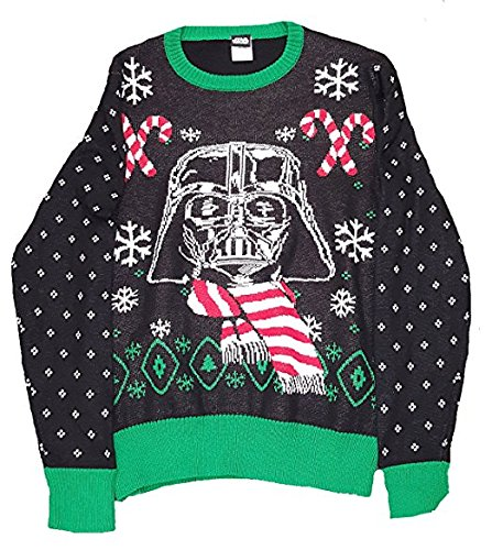 Star Wars Darth Vader Christmas Fair Isle Black Sweater