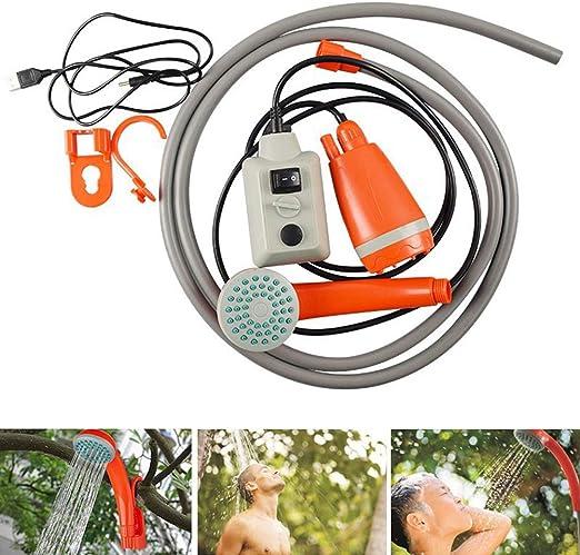 Peahop Juego de Ducha para Acampar, Herramienta portátil de Lavado de Autos con Bomba de Agua DC 3.7V USB para Acampar, Caminar, jardín, Playa: Amazon.es: Hogar