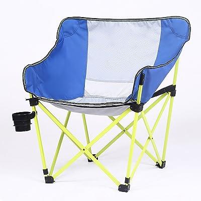 Chaise pliante de camping Chaise pliante extérieure, chaise de loisirs de pêche, chaise portative solide respirable de plage,