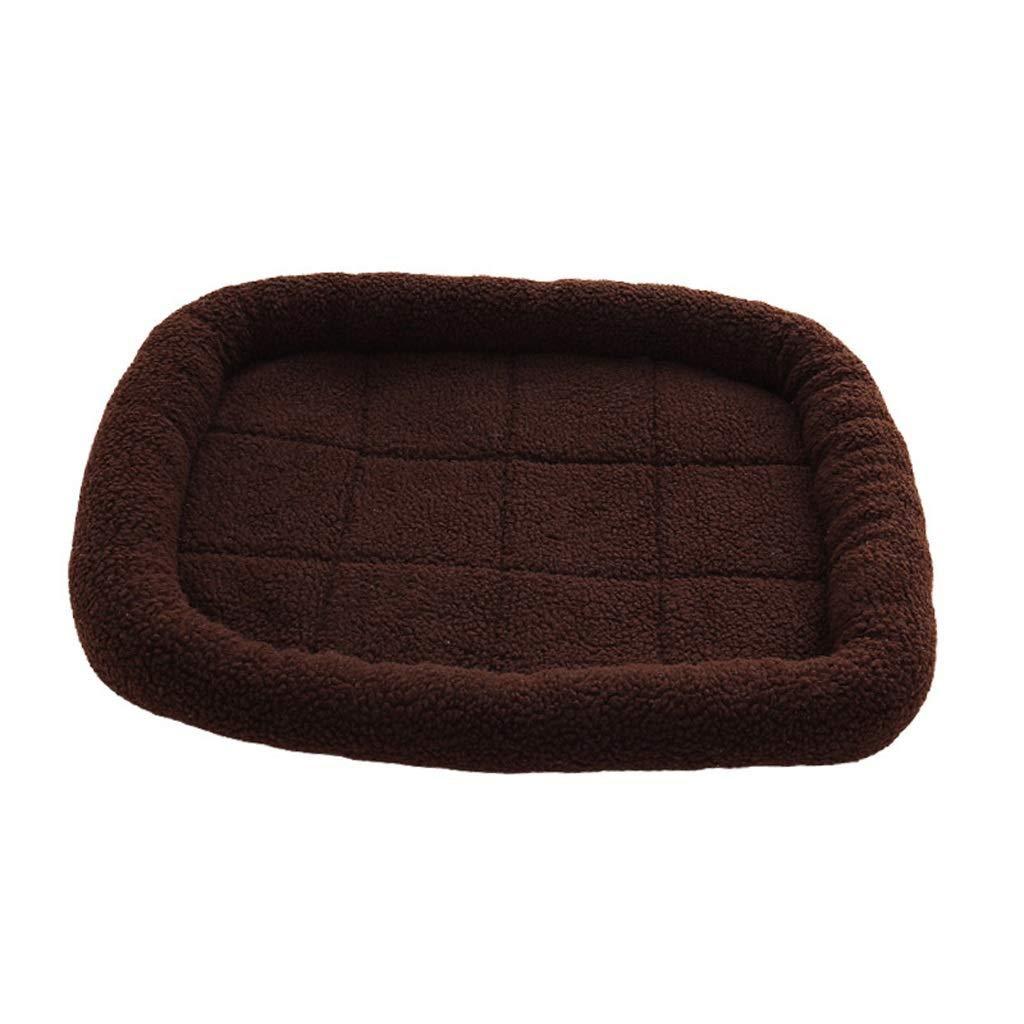 MMAWN 究極のドッグベッド、整形外科用メモリーフォーム、防水ライナー、より 綿カバー(ブラウン)(50 * 40CM、60 * 50CM、70 * 60CM) (Size : S)  Small